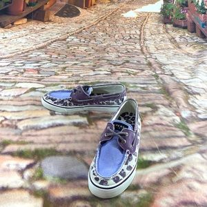 Sperry Top Sider Wome's Canvas Shoes Animal Print